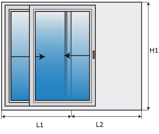 Porte finestre infissi in pvc a ravenna pellegrino srl - Finestra a 2 ante ...