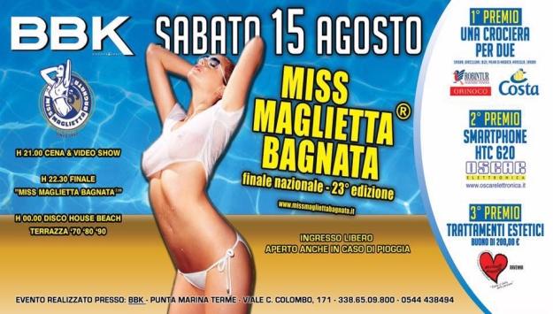 Miss Maglietta Bagnata - Sabato 15 Agosto 2015
