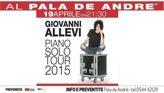 Giovanni Allevi - Piano Solo - Concerto Ravenna - Domenica 19 Aprile 2015 - Pala de Andre