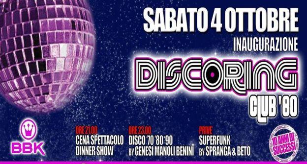 DISCORING CLUB 80 - DIECI ANNI DI SUCCESSI- 4 ottobre