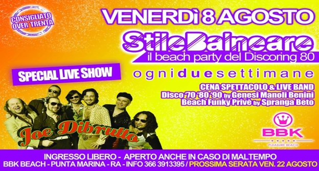 Stilebalneare il Beach Party del Discoring 80 - Venerdi 8 Agosto - BBK