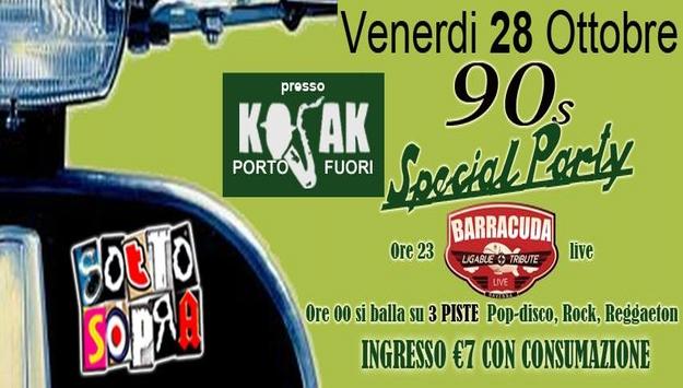 Sottosopra Party - 90 Special at Kojak Venerdi' 28 ottobre 2016