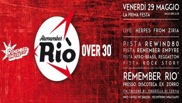 Apertura Remember Rio' - Festa Over 30 NRG 80 - Discoteca ex Zorro Cervia