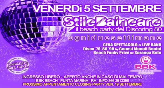 StileBalneare - Il beach party del Discoring 80 - venerdi' 5 settembre