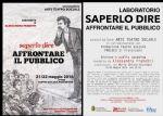 Ravenna - SAPERLO DIRE Affrontare il pubblico
