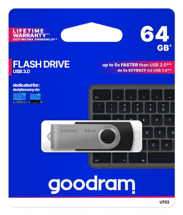 PENDRIVE USB 64GB USB3.0 BLACK