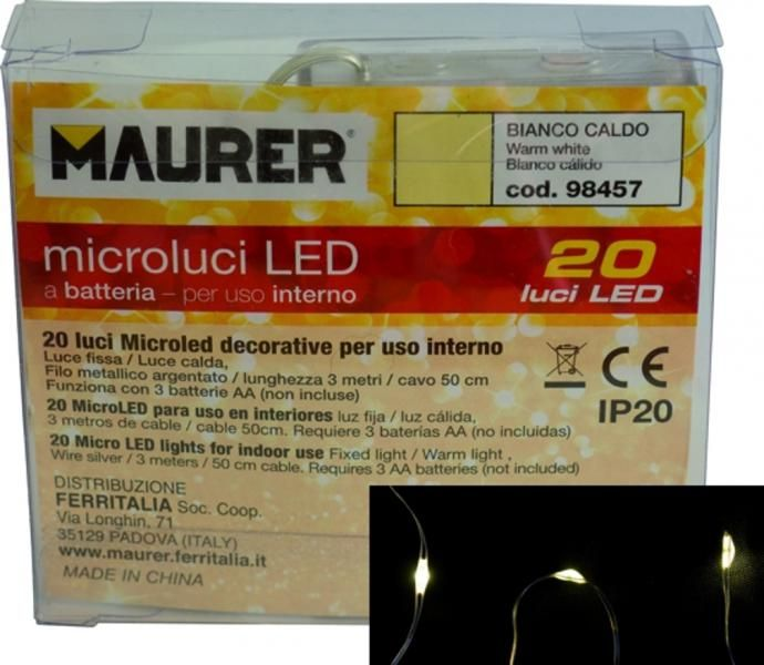 Luci di Natale decorative a batteria per interno